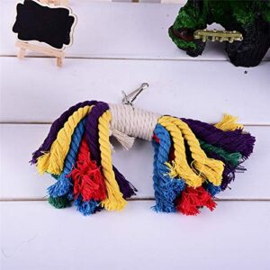 Bird's Colorful cotton rope Chew Toy