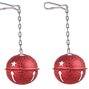 Bell ball toy for large bird's cage decoration, pack of 2 (Available colour will be sent)